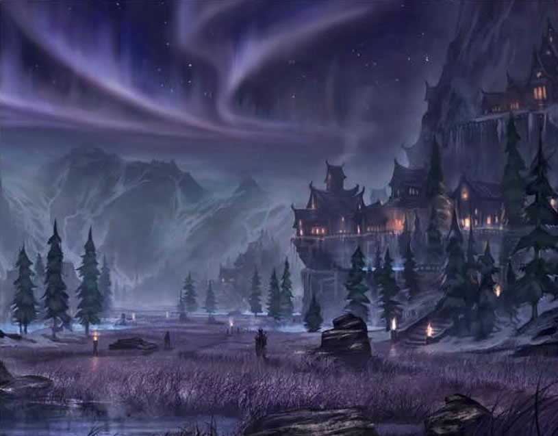 The Elder Scrolls Online Concept Art - Forest (2)