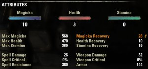 Attributes and damage scaling