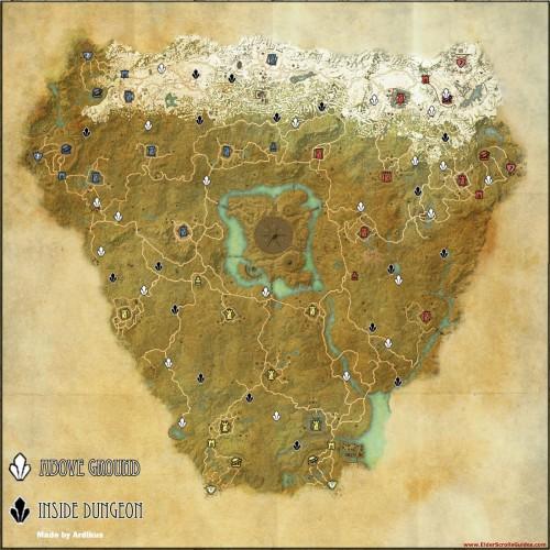 Cyrodiil Skyshard Locations Map