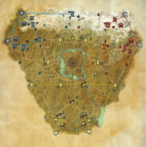 Cyrodiil Map with keeps and other objectives