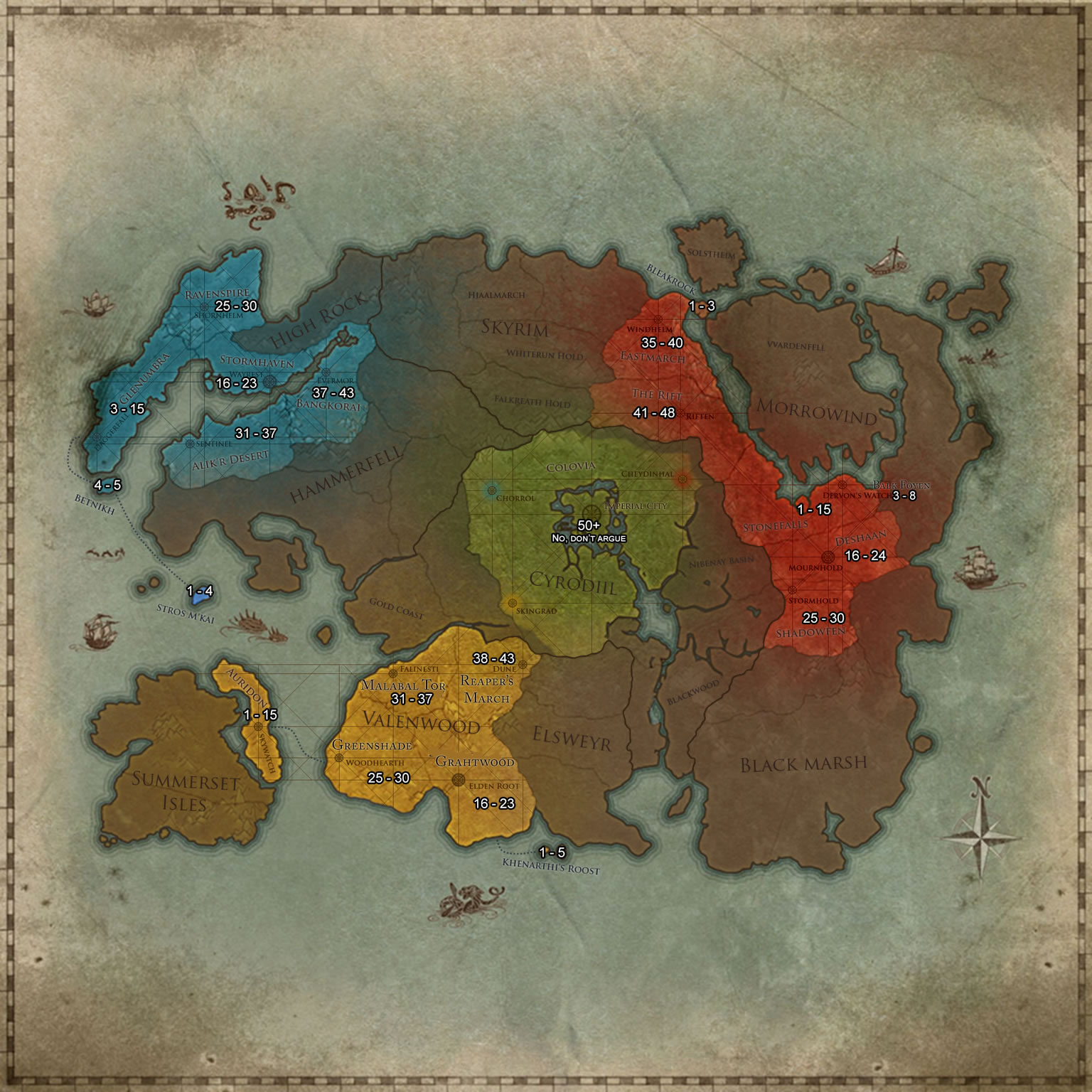 What area should I be in for my level? — Elder Scrolls Online