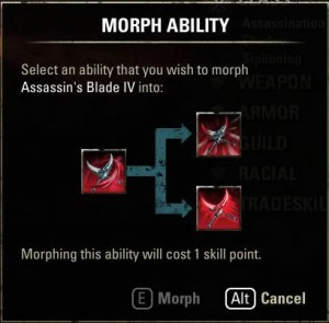 Morhping Assassins Blade ability