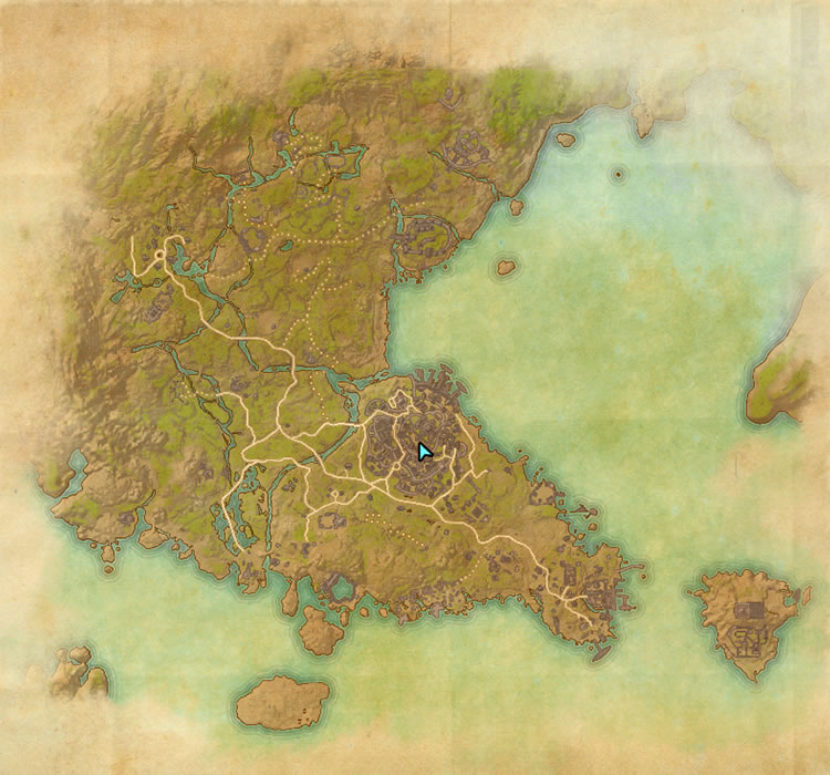 Southern Elsweyr map