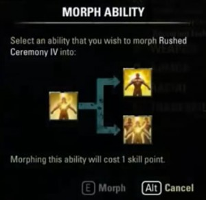 Morphing abilities