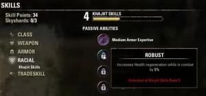 Passive abilities