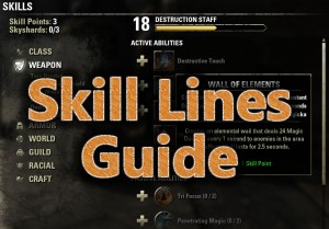 Skill lines guide