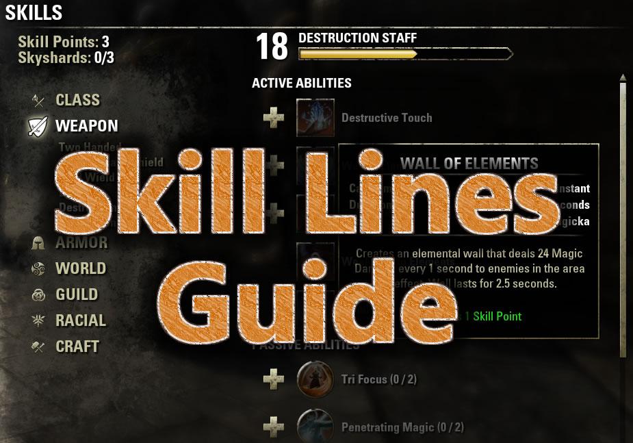 Skill Lines Guide | Elder Scrolls Online Guides