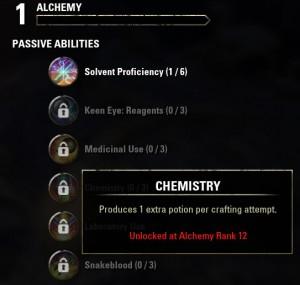 Alchemy skill line