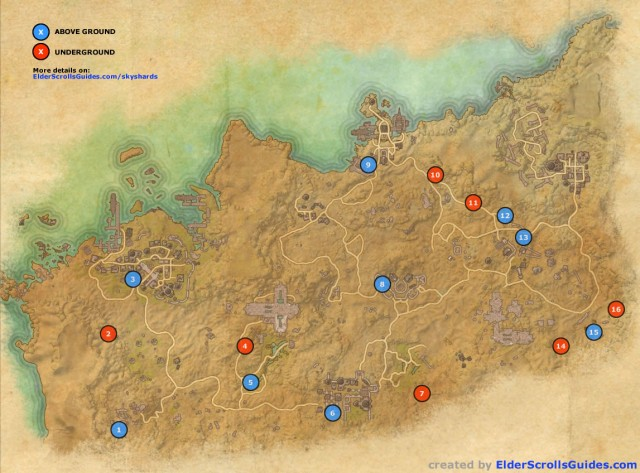 Alik'r Desert Skyshards Map