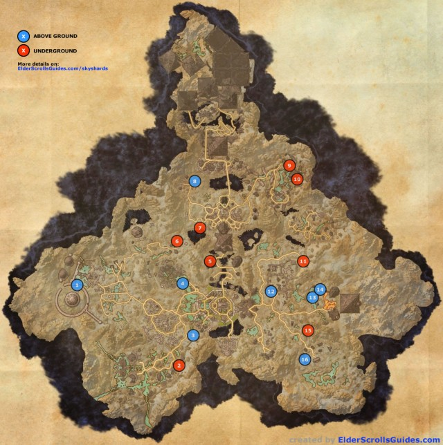 Coldharbour Skyshards Map
