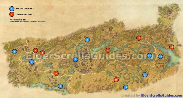 Deshaan Skyshards Map