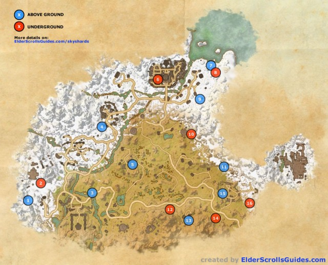 Eastmarch Skyshards Map
