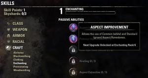Enchanting skill line