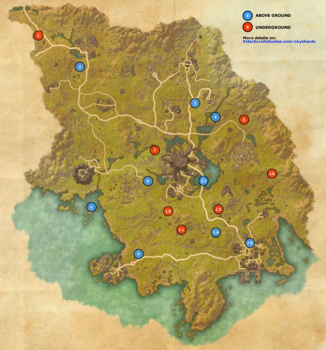 Grahtwood Skyshards Map