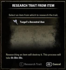 Item with trait