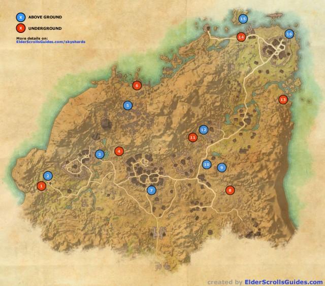Rivenspire Skyshards Map