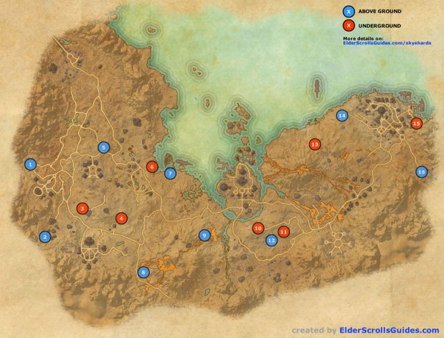 Stonefalls Skyshards Map