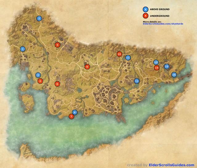 Stormhaven Skyshards Map