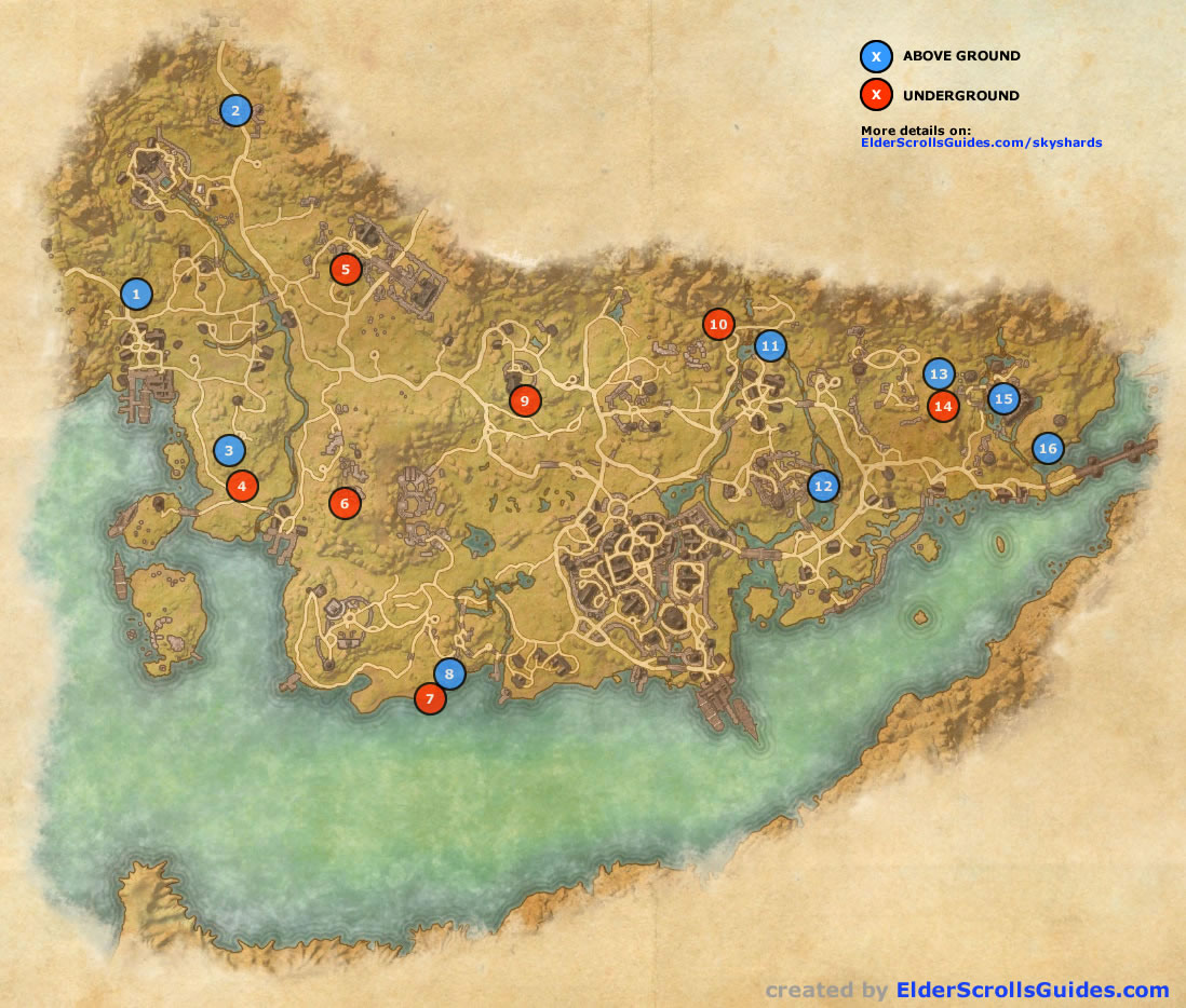 Stormhaven Skyshards Map | Elder Scrolls Online Guides