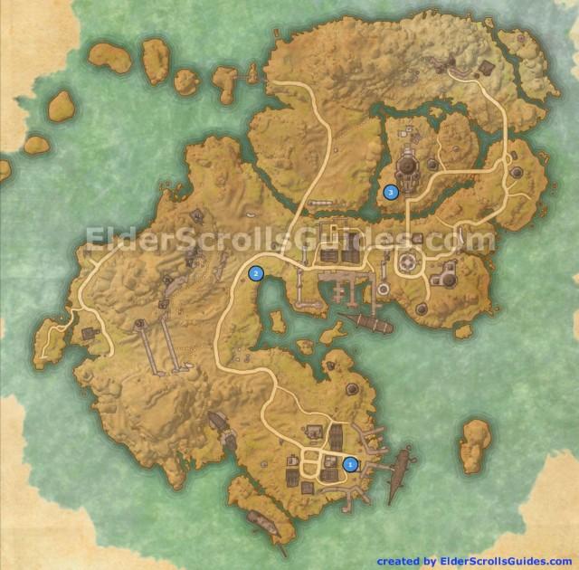 Stros M'Kai Skyshards Map