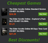 Cheapest Elder Scrolls Online game and game time codes