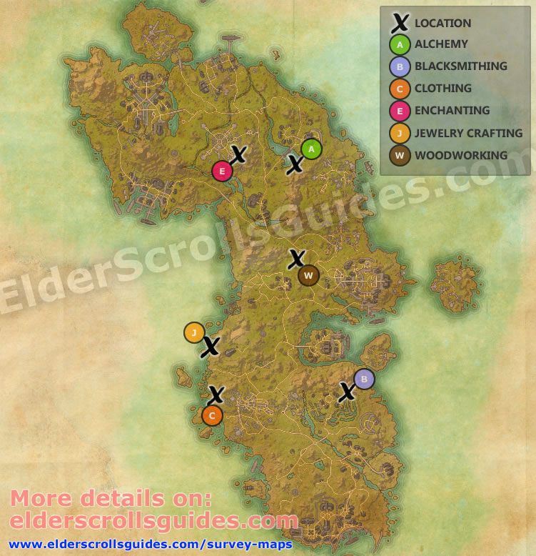 Auridon Survey Report Map