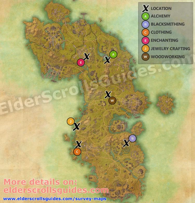 Auridon Survey Report Map
