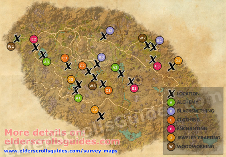 Craglorn Survey Report Map