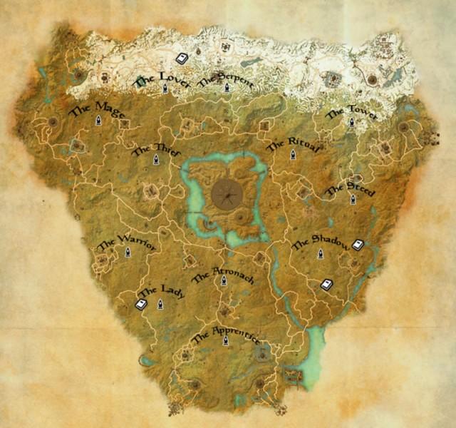 Cyrodiil Mundus Stones map