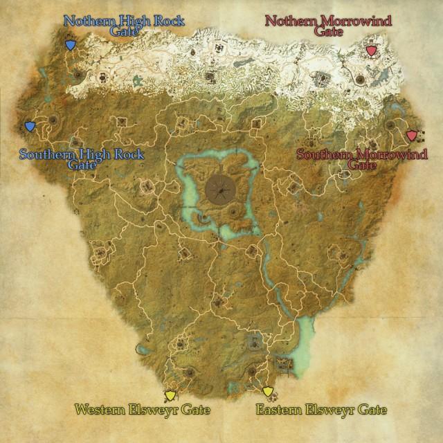 Cyrodiil gate locations