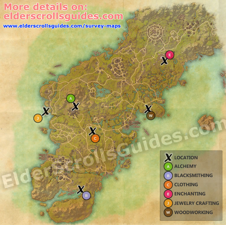 Glenumbra Survey Report Map