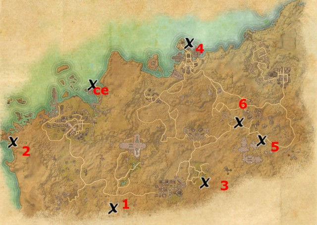 Alik'r Desert treasure map locations