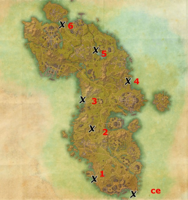 eso crafting locations auridon treasure map locations elder scrolls guides 1966