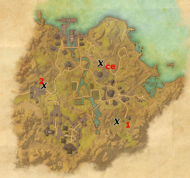 Bal Foyen Treasure Map 1 Bal Foyen Treasure Map Locations | Elder Scrolls Online Guides