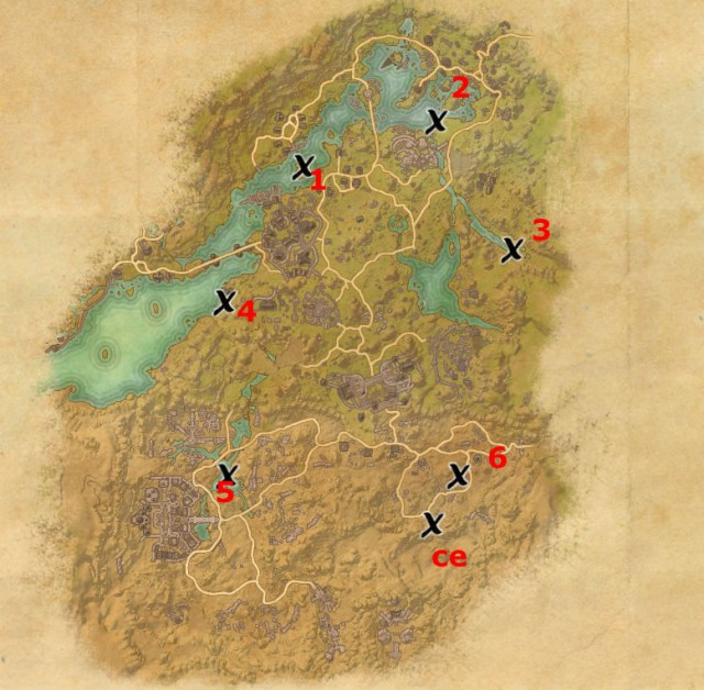 Bangkorai treasure map locations