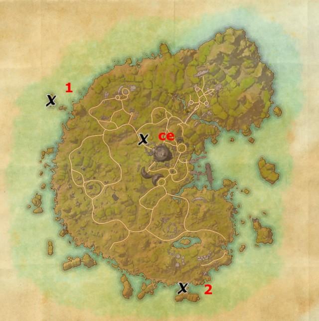 Betnikh treasure map locations