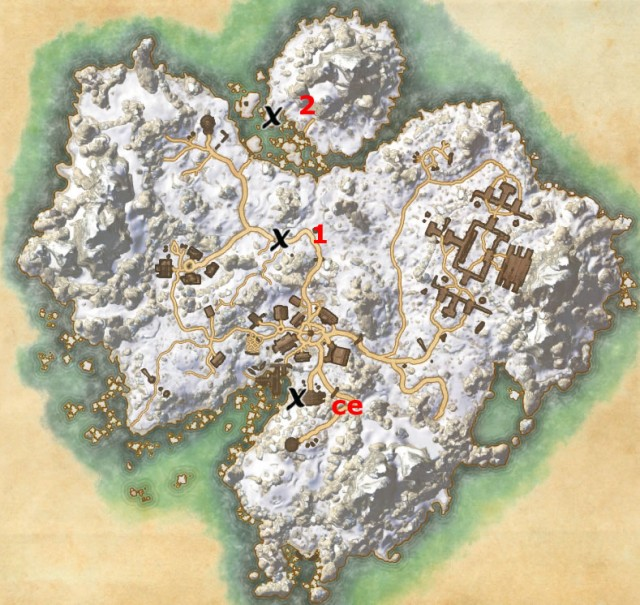 Bleakrock Isle treasure map locations