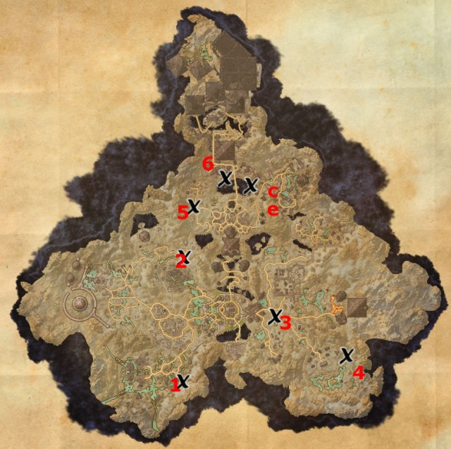 Coldharbour treasure map locations