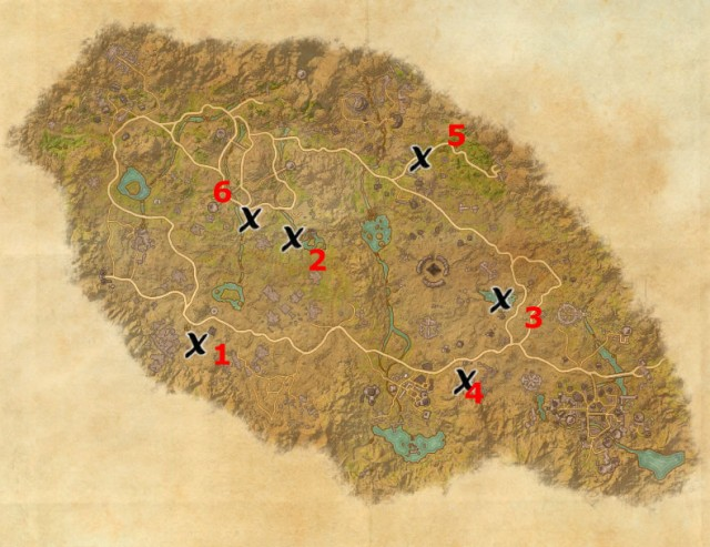 Craglorn treasure map locations
