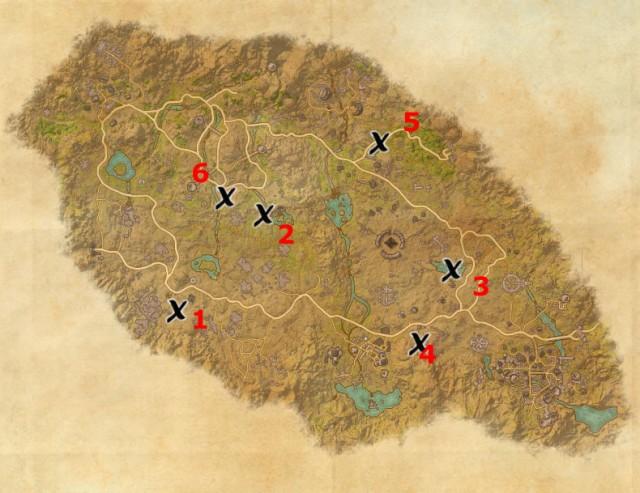 Craglorn treasure map locations
