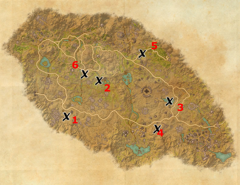 Craglorn Treasure Map Locations | Elder Scrolls Online Guides on green shade treasure map, the rift ce treasure map, eso stone falls ce treasure map, deshann eso ce treasure map,