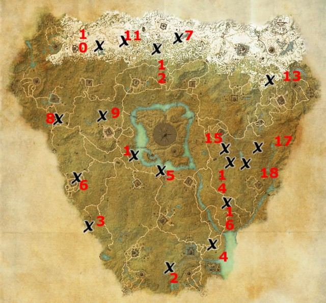 Cyrodiil treasure map locations