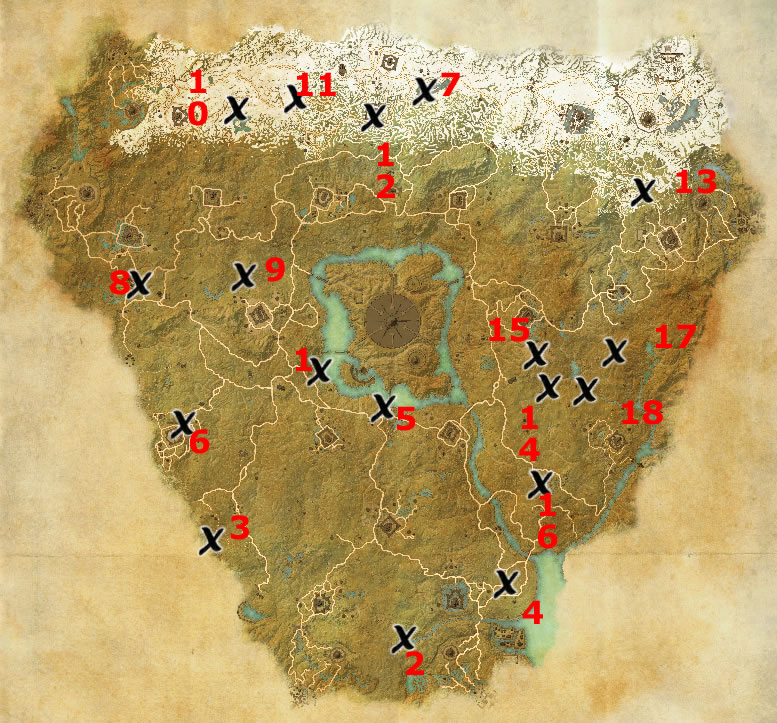 Cyrodiil Treasure Map Locations | Elder Scrolls Online Guides on the rift ce treasure map, khenarthi's roost treasure map, stormhaven ce treasure map, bleakrock treasure map, auridon treasure map,