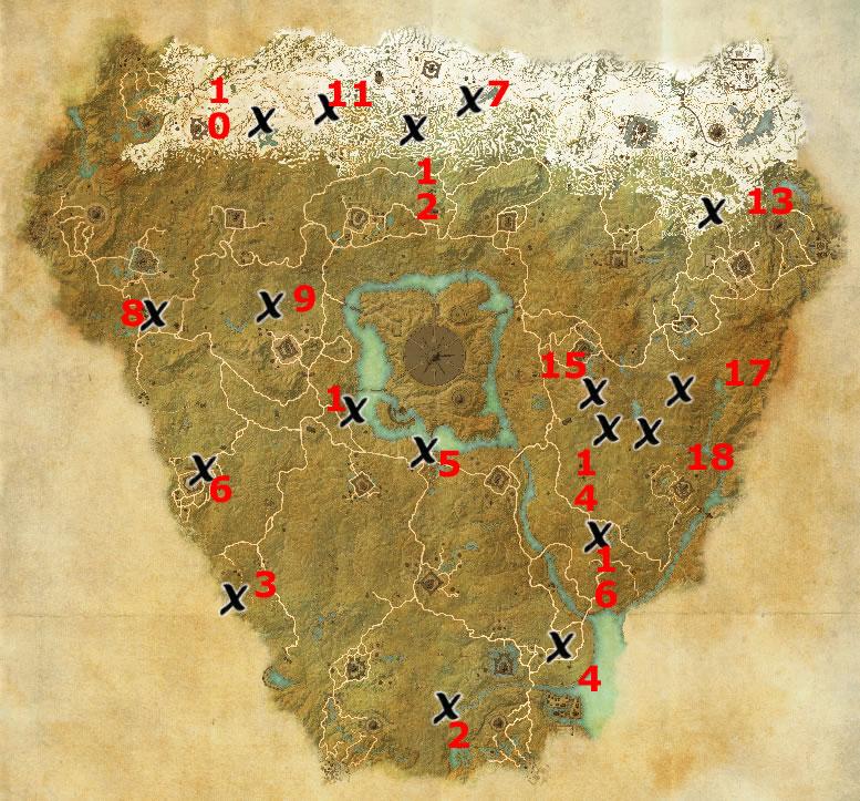 Cyrodiil Map Eso Cyrodiil Treasure Map Locations | Elder Scrolls Online Guides
