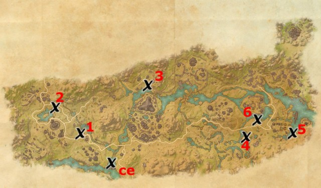 Deshaan treasure map locations