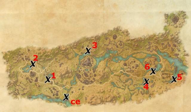 Deshaan treasure map locations