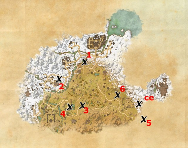 Eastmarch treasure map locations