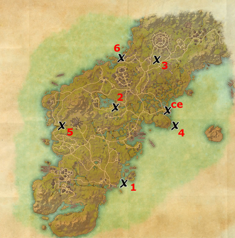 Glenumbra Treasure Map 1 Glenumbra Treasure Map Locations | Elder Scrolls Online Guides
