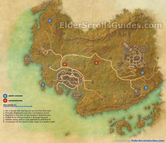 Gold Coast skyshards map