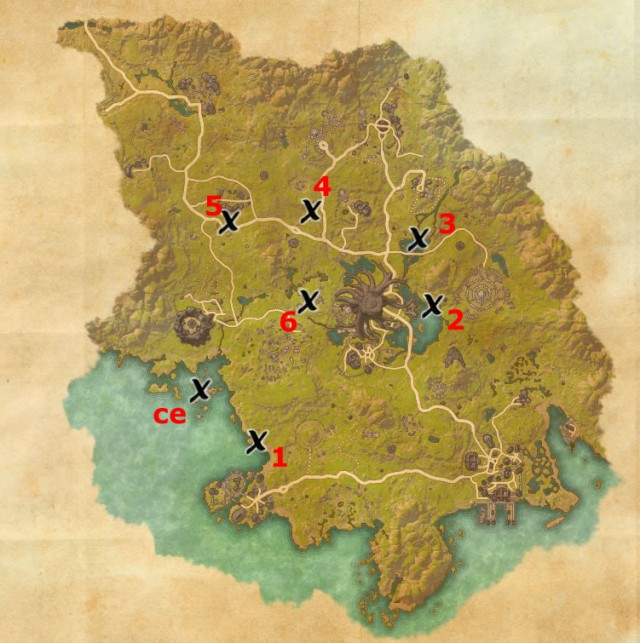 Grahtwood treasure map locations